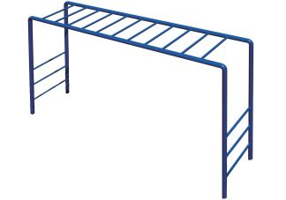 Commercial Playground Horizontal Ladder- Blue