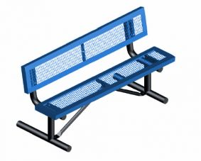 4 ft. Infinity Portable Bench w/ Back