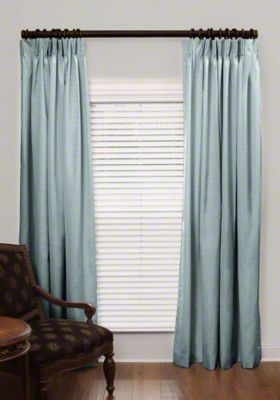 Custom French Pleat Silk Drapes