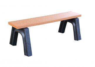 Polly Products Landmark 4 Flat Bench in Black/Black