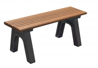 Polly Products Cambridge 4 ft. Flat Bench in Black/Black