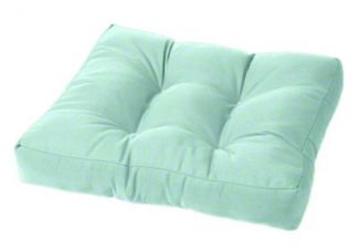 tufted wicker ottoman cushion