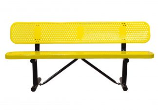 bench, park bench, commercial park bench, 6 ft park bench, park bench with back
