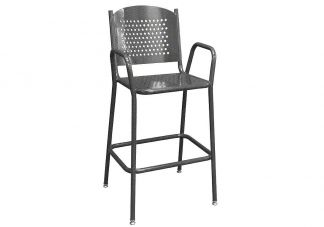 Tall Perforated Metal Cafe Chair