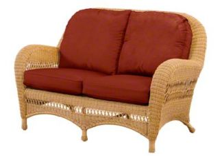 flat wicker loveseat cushions