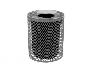 Expanded Trash Can with Concave Lid