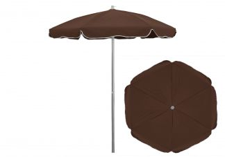 6.5 ft. Sunbrella True Brown Patio Umbrella
