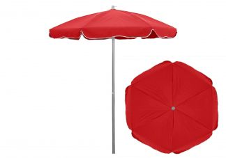 6.5 ft. Sunbrella Jockey Red Patio Umbrella