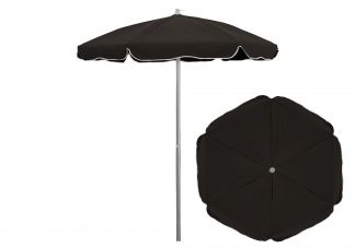 6.5 ft. Sunbrella Black Patio Umbrella