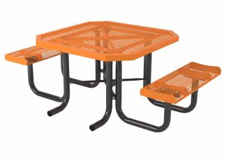 46 in. Octagon Roll Heavy Portable Table - 2 Seats