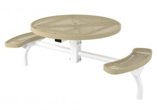 46 in. Round Regal Web Inground Mount Table - 2 Seat