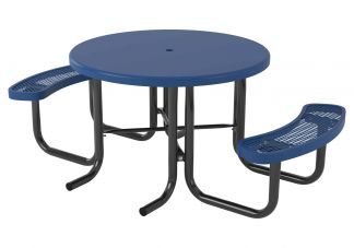 46 in. Round Regal Solid Top Portable Table - 2 Seat