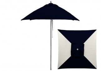 6.5 ft. Commercial Square Aluminum Market Umbrella