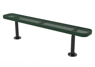 6 ft. UL Perforated Surface Mount Bench