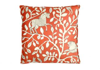 Robert Allen Pantheon Persimmon Pillow