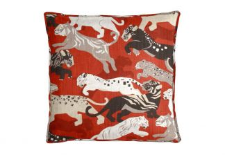 Robert Allen Rajita Tiger Persimmon Pillow