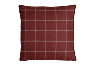 Robert Allen Helios Plaid Crimson Pillow