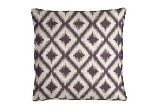 Robert Allen Ikat Fret Amethyst Pillow