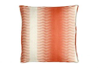 Robert Allen Gita Stripe Persimmon Pillow