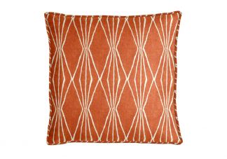 Robert Allen Handcut Shapes Orange Crush Pillow