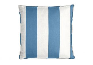 Al Fresco Cabana Stripe French Blue Pillow