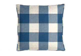 Robert Allen Checkered Out Calypso Blue Pillow
