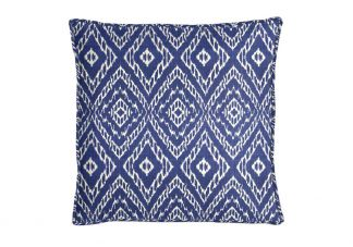 Robert Allen Strie Ikat Ultramarine Pillow