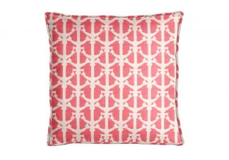 Al Fresco Drop Anchors Berry Pillow