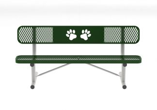 6 Standard Dog Park Bench with Back