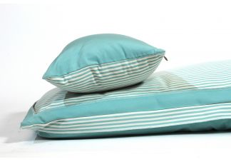 Amalfi Throw Bed - Outdura Longitude Pool and Outdura Canvas Aquatic