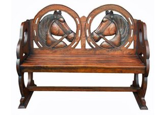 horse bench, equestrian bench, horse benches, horse accessories, benches