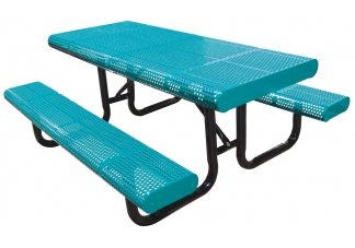 picnic table, commercial site furnishings, standard perforated table