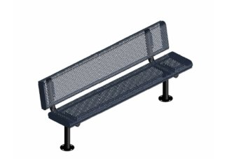 4 ft. Innovated Rolled Surface Mount Bench w/ Back