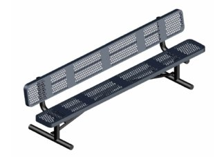 8 ft. UL Perforated Portable Bench w/ Back