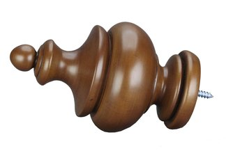 Fruitwood Chelsea  Rod End Finial
