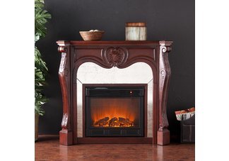 Belmont Cherry Electric Fireplace