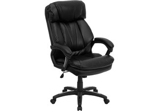 HERCULES Series High Back Black Leather Executive Office Chair