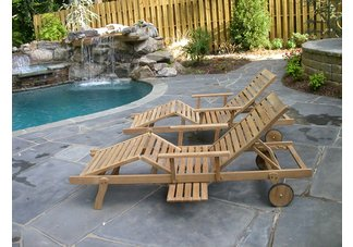 teak chaise loungers, hampton loungers
