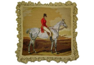 hunter jumper equestrian pillow