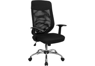 High Back Mesh Office Chair with Mesh Fabric Seat