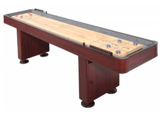 Carmelli 9 Ft. Shuffleboard Table - Walnut