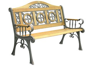 Old Bronze Regency Bench