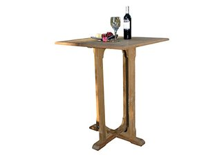 "Teak Square bar table 36"" sq"