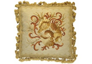 Shell Cluster Needlepoint Pillow
