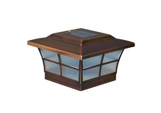 6X6 PRESTIGE SOLAR POST CAP - COPPER