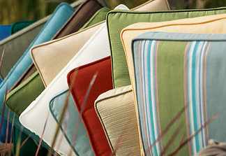 Outdoor Pillow Info Custom Pillow Source Custom Cushions Bench Cushions  Chair Cushions Window Seat Cushions.  Sunbrella Patio Cushions