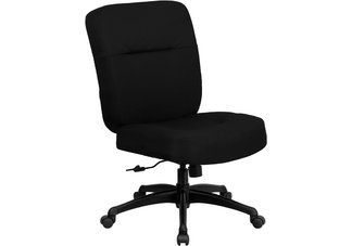 HERCULES Series 500 lb. Capacity Big & Tall Black Fabric Office Chair with Arms and Extra WIDE Seat
