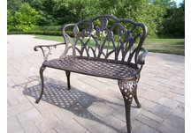 Tulip Loveseat Bench Antique Bronze