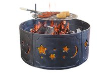 Big Sky Fire Ring  w/ Stars & Moons, Black