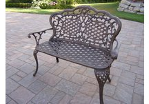 Mississippi Love Seat Bench Antique Bronze